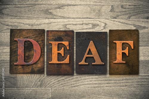 Fényképezés  Deaf Wooden Letterpress Theme