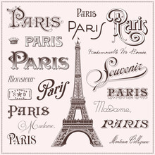 Hand Drawn Paris Design Elements