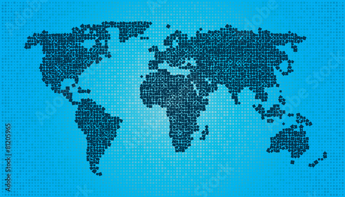 Random World Map.World Map Squares Random Size And Rotation Buy This Stock Vector
