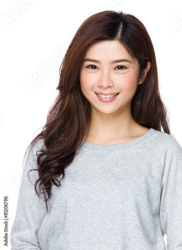 Photo  Young Beautiful Asian Woman
