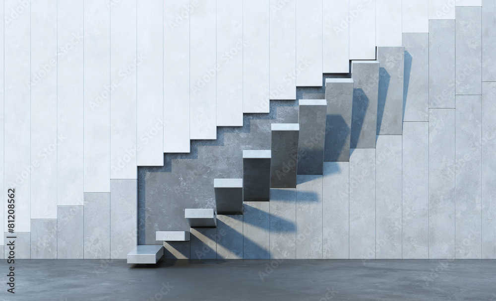 Fototapeta stairs leading upward