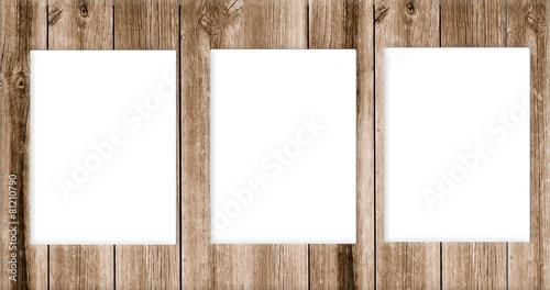 Papiers peints Bois Holz Rahmen Passepartout