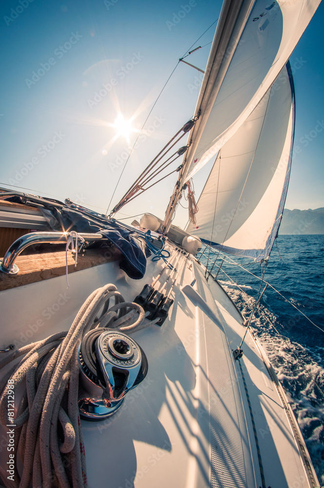 Fototapeta Croatia sailing