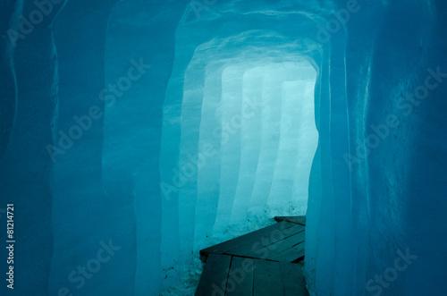 Obraz na plátně Corridor inside the Rhone Glacier, Switzerland