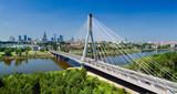 Bridge in Warsaw over Vistula river