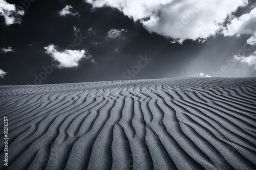 Extensive View of Desert Under a Dramatic Sky