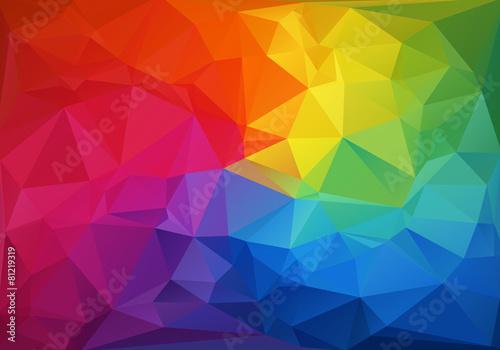 Fototapeta Mosaik Polygon Hintergrund obraz