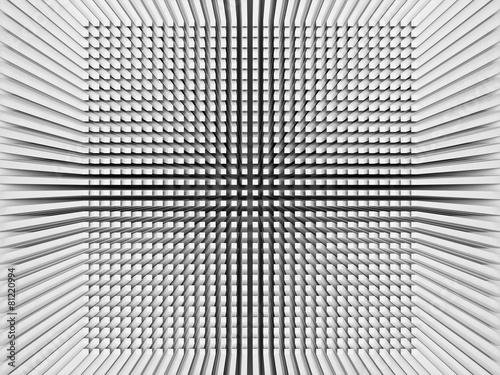 Cyfrowego tło z odwróconym perspektywy 3d kwadrata wzorem