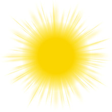 Sun, Yellow, Isolated, Vector, Background, Vibrant