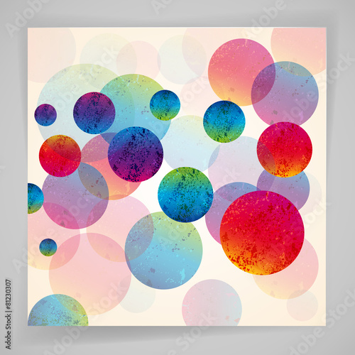 Poster Geometrische dieren Multicolor abstract bright background. Circles elements.