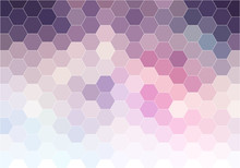 Abstract Pink Hexagon Background, Vector