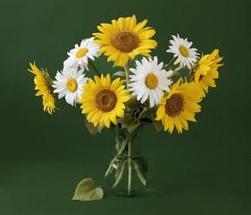 Fototapeta Słoneczniki Still life with sunflowers
