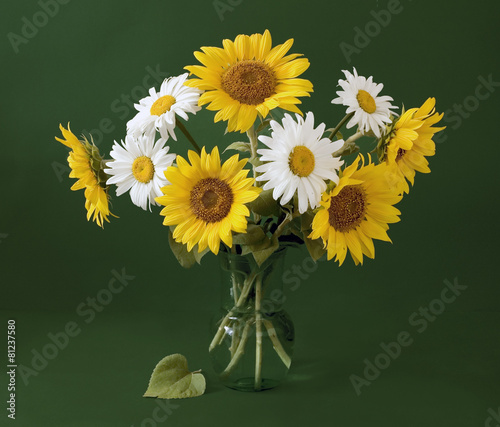 Still life with sunflowers - 81237580
