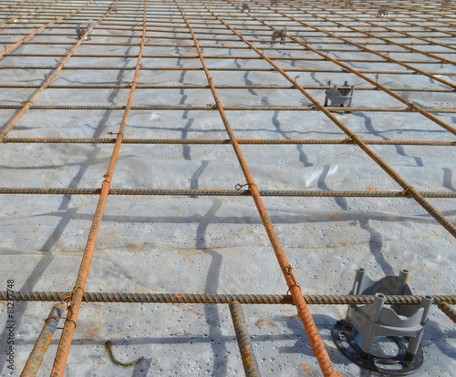 Concrete Slab Rebar Construction Buy This Stock Photo And
