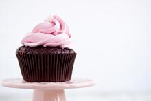 Pink Chocolate Cupcake