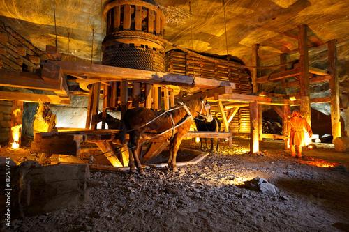 Door stickers Krakow Wieliczka salt mine near Krakow in Poland.