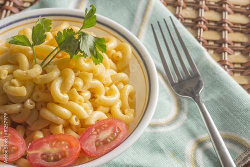 Fotografie, Obraz  Elbow Macaroni and Cheese