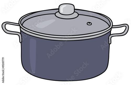 Fotografie, Obraz  Hand drawing of a blue pot