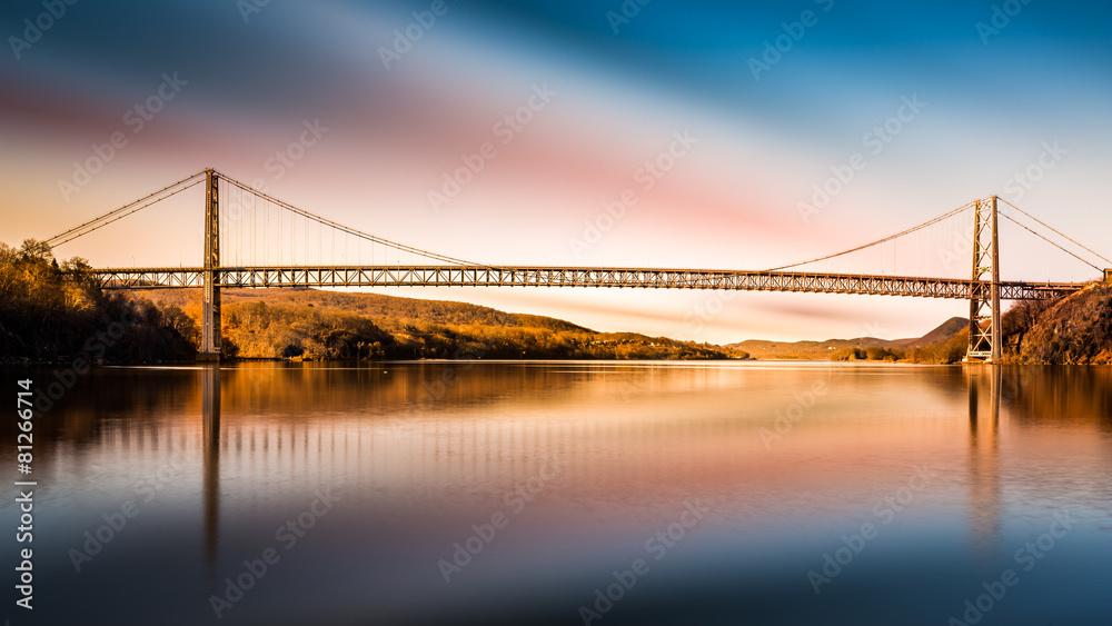 Fototapety, obrazy: Bear Mountain Bridge after sunset