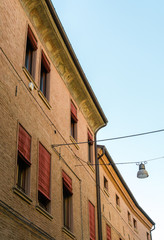 Fototapeta na wymiar Ancient medieval house in the downtown of Ferrara
