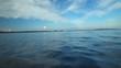 Sailing through the islands on sailing boat in Croatia