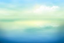Water Vector Background Calm C...