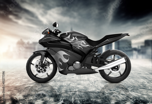 Poster Motorcycle Motorcycle Motorbike Bike Riding Contemporary Black Concept
