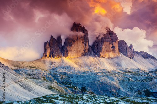 mountains landscape at sunset