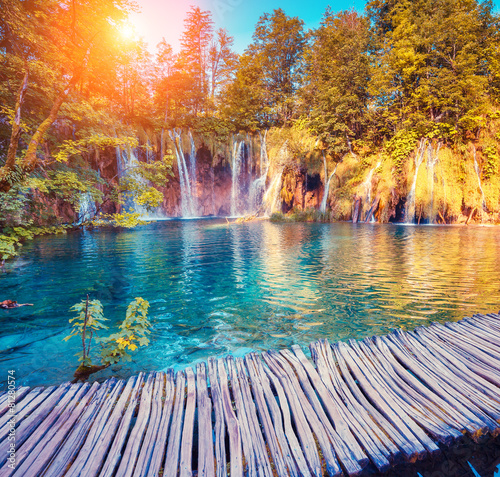 Obraz Plitvice Lakes National Park - fototapety do salonu