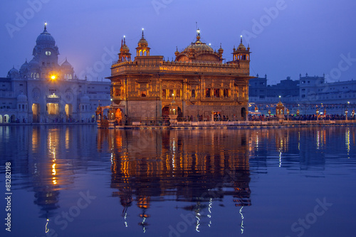 Poster India Golden Temple of Amritsar - Pubjab - India
