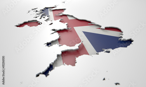 Foto Recessed Country Map Britain