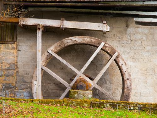 Aluminium Prints Mills Old mill water wheel