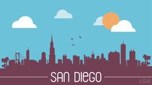 San Diego USA Skyline Silhouet...