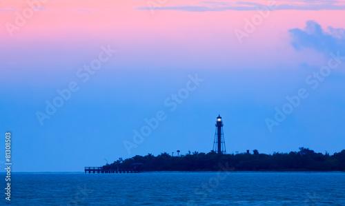 Garden Poster Lighthouse Sanibel Light Dawning