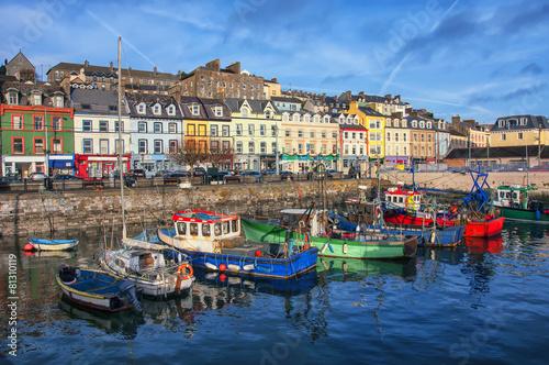 Photo  Cobh city port in Ireland
