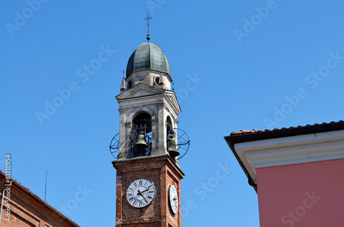 Photo sur Toile Con. Antique historic bell in Italy