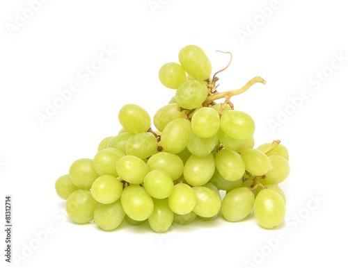 Fotografia, Obraz  juicy green grapesisolated on a white background