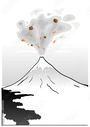 Fototapety, obrazy: Mountain Fuji, japanese art illustration