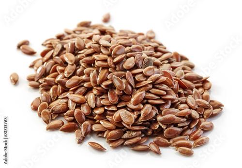 Fotografie, Obraz  heap of flax seeds