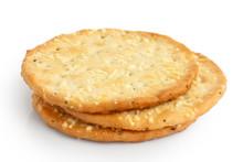 Three Golden Cheese Crackers O...