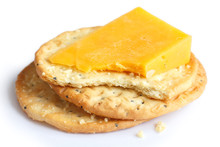Three Golden Cheese Crackers O...