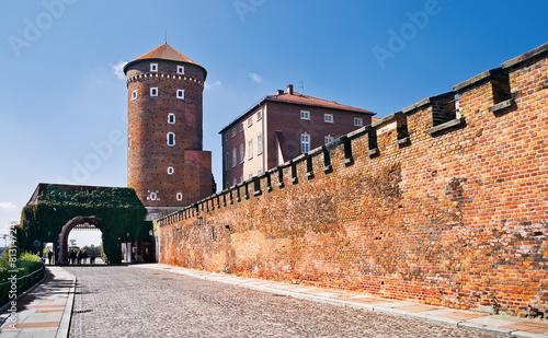 Papiers peints Orange eclat A view of a Wawel castle in the morning