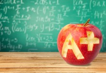 Letter A. Apple A  White Background
