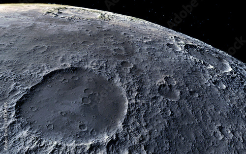 Moon scientific illustration Fototapete