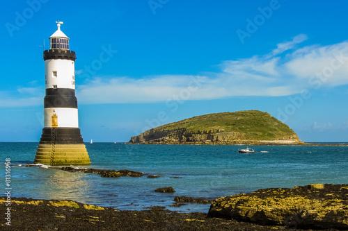 Garden Poster Lighthouse Trwyn Du Lighthouse and Puffin Island