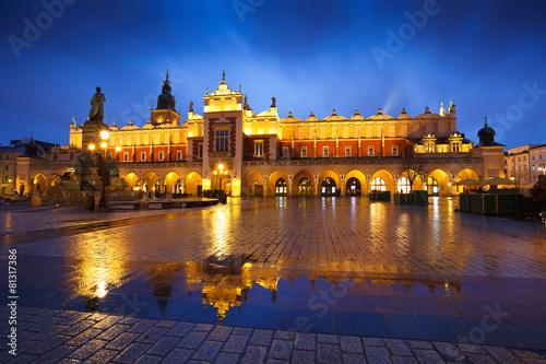 Fototapeta The Cloth Hall in the main square of Krakow, Poland. obraz