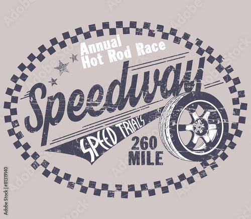 Speedway Fototapet
