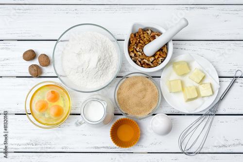Fotografía  Dough recipe ingredients