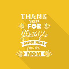 Fototapeta Motywacje Mothers day design