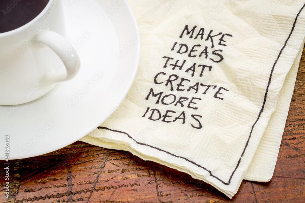 Fototapety, obrazy: Make ideas advice on napking